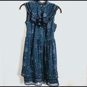 Urban Outfitters navy blue sleeveless dress